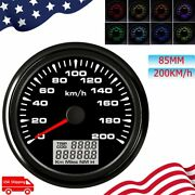 85mm Gps Speedometer 200km/h With 8 Colors Waterproof For Car Motorcycle Marine