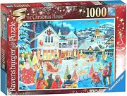 Ravensburger Limited Edition The Christmas House 1000 Pc Puzzle - New Sealed