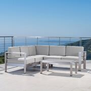 Cape Coral Outdoor 5 Seater Sectional Sofa Chat Set With Sunbrella Cushions