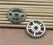 50/200pcs Retro Style Gear Diy Jewelry Making Alloy Charm Spacer Beads 17mm