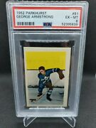 1952 Parkhurst George Armstrong Toronto Maple Leafs Graded 6