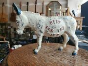 Rare 1972 Mcgovern Shriver Cast Iron Donkey Best For The Job Coin Bank Political