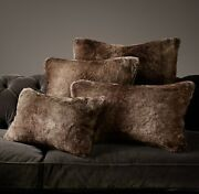 Restoration Hardware Luxe Faux Fur Pillow Cover