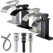 Bathroom Sink Faucet Waterfall Single Handle One Hole Lavatory Mixer Tap W/cover