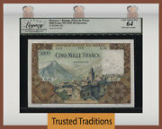 Tt Pk 49s 1953-58 Morocco 5000 Francs Specimen Lcg 64 Scarce And Finest Known