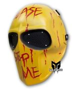 Custom Army Of Two Airsoft Bb Gun Paintball Tactical Full Face Mask Fiberglass
