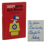 Snoopy And The Red Baron Signed By Charles M. Schulz Book Club Edition 1966