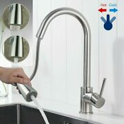 Kitchen Faucet Sink Pull Down Sprayer Swivel Spout Brushed Nickel With Cover