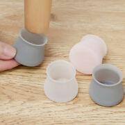 Table Leg Pad Cover Silicone Rubber Feet Round Chair Cap Floor Protechu