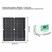 2x 15w Flexible Solar Panel Portable Solar Charging Board Photovoltaic System Mp