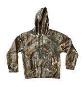 Red Head Pullover Size Medium Hoodie Sweatshirt Spell Out Camo Real Tree Max-5