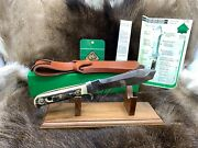 1971 6377 White Hunter Knife Stag Handles Leather Sheath In G/y Nice Box