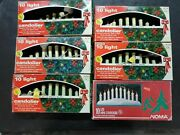 Lot Of 6 Vintage Beacon And Noma Candolier Christmas Lights W/ 10 Lights
