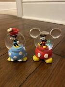 Disney Minnie Mouse And Mickey Mouse Miniature Mini Snow Globes So Cute