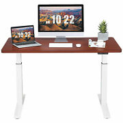 Electric 55x28 Standing Desk Sit To Stand Workstation Dual Motor Coffee