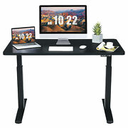 55x28 Electric Standing Desk Sit To Stand Workstation Dual Motor Black