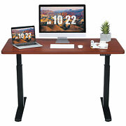 55x28 Electric Standing Desk Sit To Stand Workstation Dual Motor Coffee