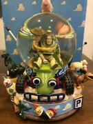Toy Story 1 Snow Dome Snow Globe Disney Store Woody And Buzz Music Vintage255/ak