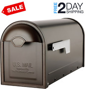 Steel Mailbox Post Mount Galvanized Mail Box Metal Safe Mailboxes Classic