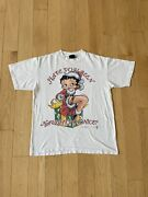 Vtg 90s 1998 Christmas Betty Boop Grey Promo T Shirt Size Large