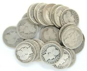 Roll Of 40 1905 Barber Quarter Dollar 90 Silver 25 Cent Us Coins United States