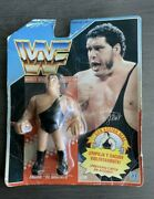 Andre The Giant Series 1 Hasbro Wwe Wwf Foreign / Spanish Card 1990 Rough Shape