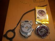 Beyblade Metal Fusion With Launcher And Pull Zipper Legend Torch Aries By Hasbro