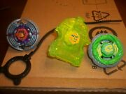 2 Beyblade Metal Fusion With Launcher And Pull Zipper Made By Hasbro Lot Of 2andnbsp
