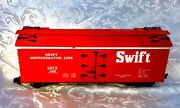 Usa Trains Swift Refrigerator Line Srlx 1600 G Scale. Color-red. Excellent Cond