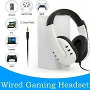 Ps5 Wired Headset Ps4 Pc Ps3 Ns Headsets Surround Sound Gaming Overear Laptop T