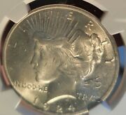 Duo Peace Dollars Ngc Ms64+ 1923 And 1924 . Nice White Coins