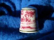 Vintage Collectible Spode Bone China Mill Pond Scene Thimble Kaiser, W. Germany
