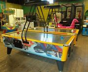 Air Hockey Table - Fast Track By Ice - Arcade Quality With Stainless Steel Top