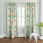 Art Deco Butterflies Printed Cotton Curtains Set Of 2 Printed Curtain Lot