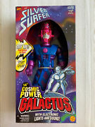 """Cosmic Power Galactus 1997 14"""" New Lights And Sounds Silver Surfer Marvel"""