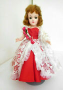 Vintage 1950's Mary Hoyer 14 Hard Plastic Doll Red Auburn Hair In Gown