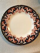 Royal Crownderby England 12 Salad/accent Plates Very Rare Red,orange,blue