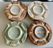 1969-1977 C10 Chevy Truck Dog Dish Hubcaps 10.5vintage 69 70 71 72 73 74 75 76