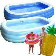 Inflatable Swimming Pools Above Ground Pool Kids Family Outdoor For Garden Yard