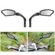 Pair 2 Bicycle Bike Cycling Handlebar Rear View Rearview Mirror Rectangle Back