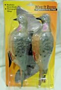 Wing-it Decoys Winged Dove Decoy 2-pack Model 523 Brand New Factory Sealed