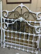 Antique Cast Iron Bed Frame Mid 1800's