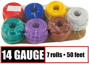 14 Gauge 12v Automotive Rv Trailer Hook Up Primary Wire - 7 Colors - 50 Feet Ea