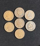 1892 1893 1894 1895 1896 1897 1898 1899indian Head Penny Cents 7 Pennies