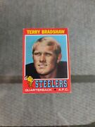 1971 Topps 156 Terry Bradshaw Rookie Card Pittsburgh Steelers Rc Football Psa