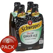 6 X 4 X Schweppes Diet Dry Ginger Ale 300ml Multipack Bottle Mixers Beverage ...