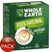 6 X Whole Earth Natural Sweetener 40 Pack Sticks Beverage Drinks Keto Meal Diet