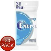 20 X 3 X Wrigley Extra Peppermint 14 Pack 81g Breath Mints Sugarfree Chewing Gum