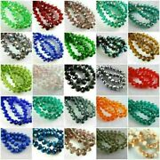 100pcs Diy Jewelry Makings Charms Crystal Glass Rondelle Loose Beads 4x3mm