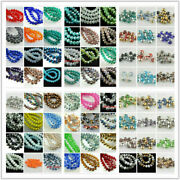 Pretty 3x2mm Glass Crystal Faceted Rondelle Spacer Beads Jewelry Findings Diy
